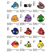 12 Angry Birds Embroidery Designs Collections 14